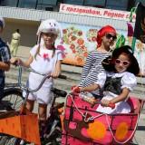 Юные велосипедисты в Криводановке
