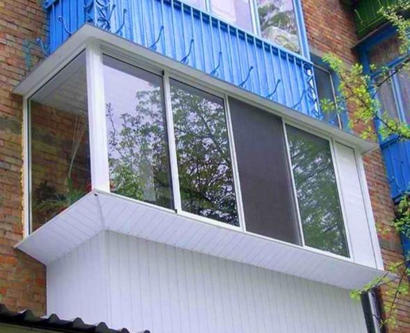 Профессиональное остекление балконов с выносом - новосибирск.